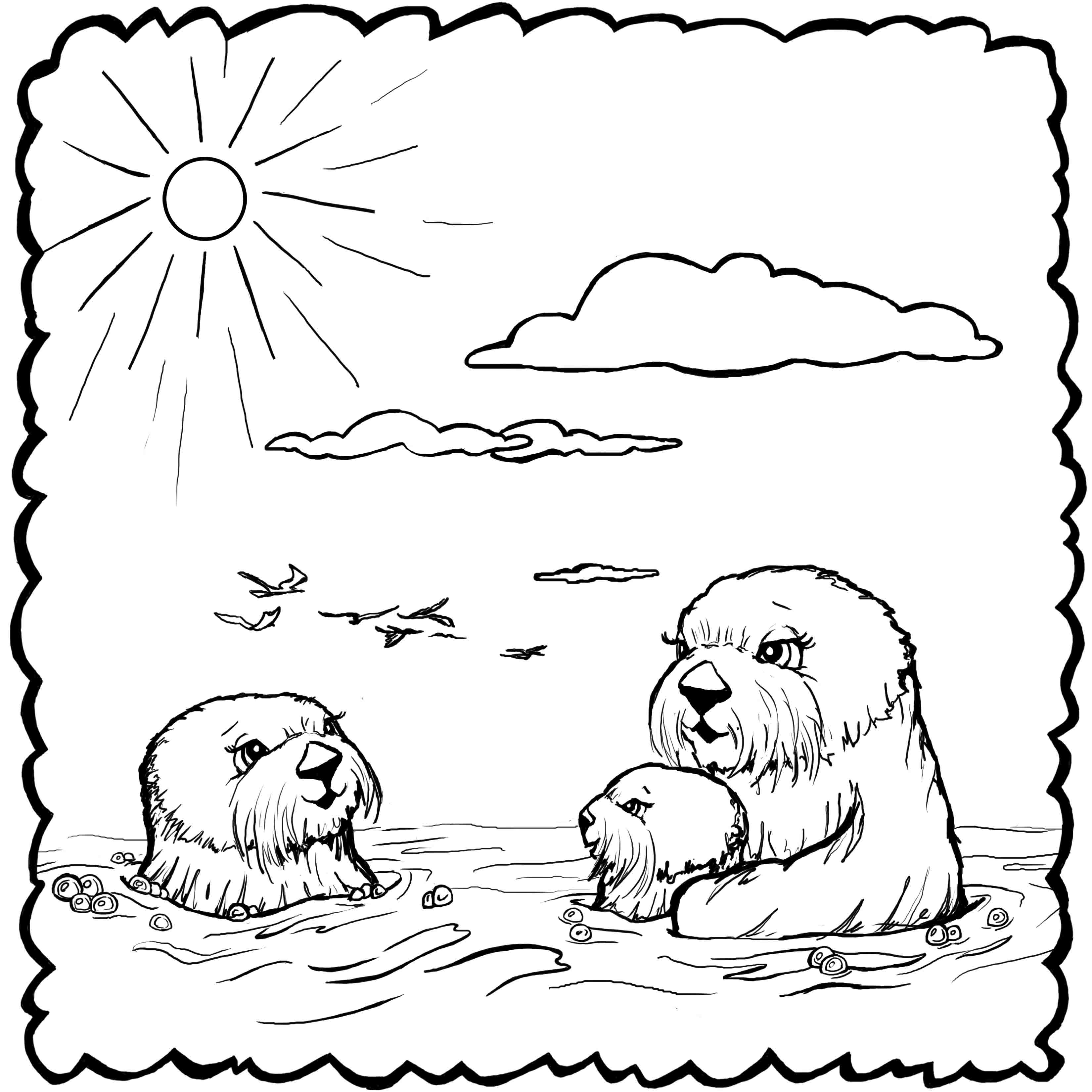 otter coloring page - coloring pages josh the otter