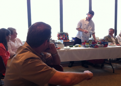 North Omaha Cake Auction Fundraiser--even had a food demonstration!