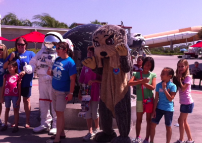 Helping again with Otter Spotter Day in Florida at NASA!