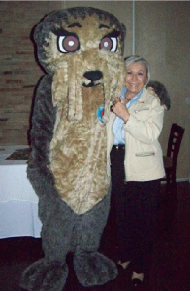 Josh the Otter Networking with Rotarians in New Jersey!
