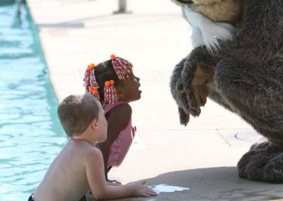 Josh the Otter at Salem Pool in New Jersey District 7640!