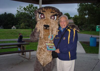 Josh the Otter in New Jersey with DG 7640 Alan Stein!