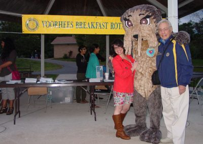 Josh the Otter with New Jersey DG Alan Stein and JTO Chair Christina Pinizzotto! (Voorhees Breakfast Rotary Club)
