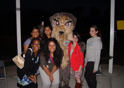 Josh the Otter with Interact Members and JTO Chair Christina Pinozzotto! (Voorhees Breakfast Rotary Club, New Jersey)